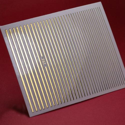 3D металлические наклейки полосы для дизайна ногтей GOLD