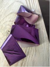 Фольга для дизайна ногтей фиолетовая