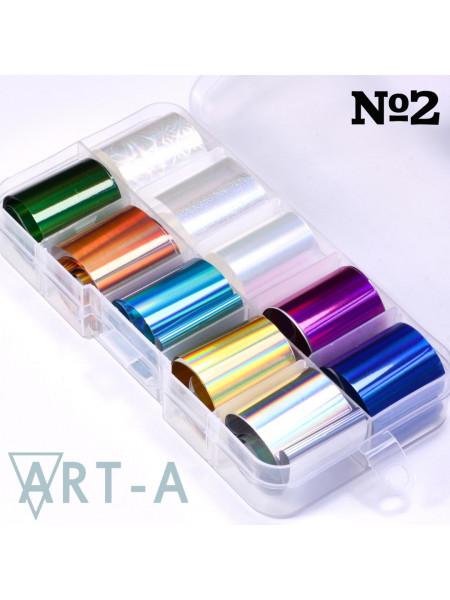 Набор фольги для дизайна ногтей №2