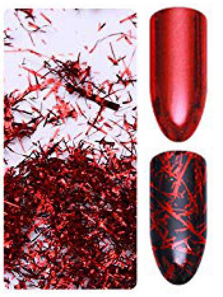 Хлопья для дизайна ногтей Galaxy Wow (красный)