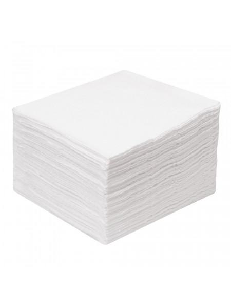 Салфетка 10х10 см, спанлейс 40 г/м2, белый, 100 шт. в пачке (эконом)