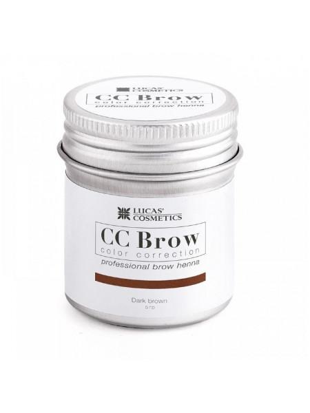 Хна для бровей CC Brow (dark brown) в баночке (темно-коричневый), 5 гр