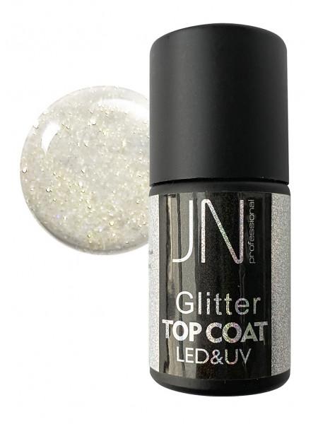 Топ для гель-лака JN Glitter Top Coat 10мл без липкого слоя №02