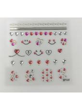 3D наклейки для дизайна ногтей №141