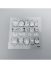 3D наклейки для дизайна ногтей №69