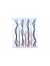 """3D наклейки для дизайна ногтей """"Волна"""" (черные+розовое золото)"""