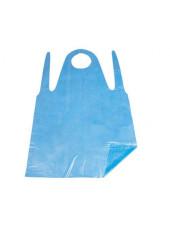 Фартуки ПНД  81смх125см голубые (упаковка 100шт.)