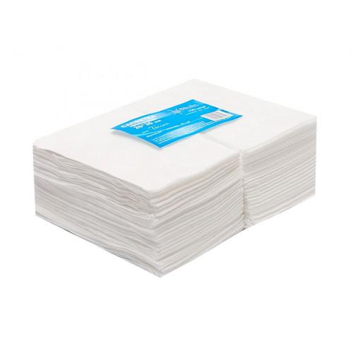 Салфетка одноразовая 20*30 спанлейс белый White line 100шт. пачка