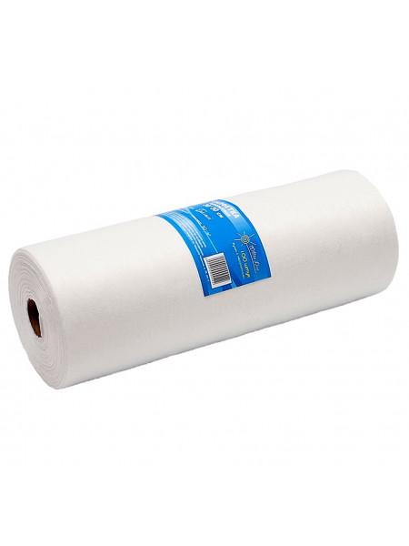Салфетка одноразовая 30*30 спанлейс белый White line 100шт. рол