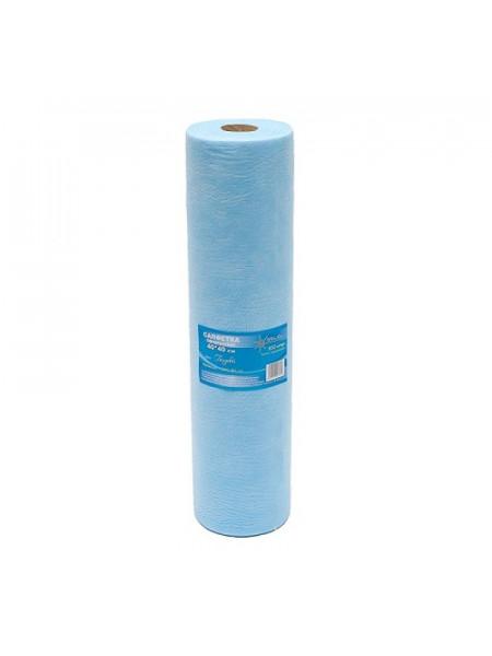 Салфетка одноразовая 40*40 SMS 17 голубой White line 200шт./рол.