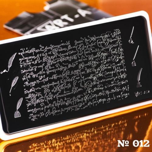 Пластина для стемпинга Art-A 012