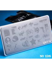 Пластина для стемпинга Art-A 126