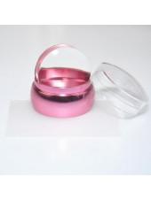 Штамп мини розовый 3,5см + скрапер