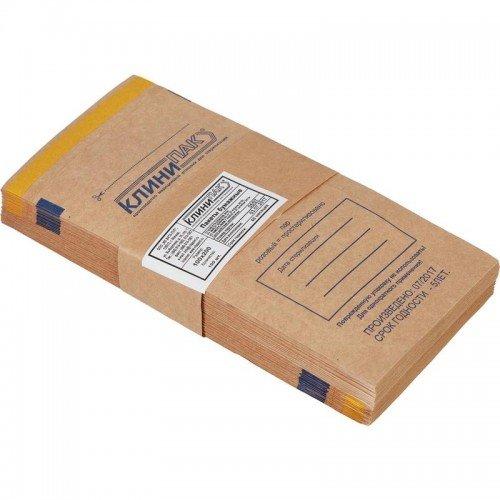 Пакеты бумажные самоклеящиеся КЛИНИПАК 150x250 (крафт, 100 шт.) в Омске