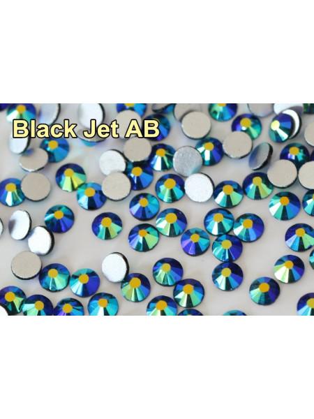 Стразы AB (ГОЛОГРАФИК) Jet black ss4. Упаковка 1440 шт.